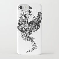 trex iPhone & iPod Cases featuring Jurassic Bloom - The Rex.  by Sinpiggyhead