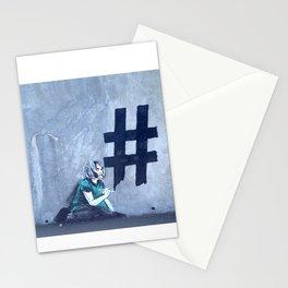 Graffiti Hashtag girl Stationery Cards