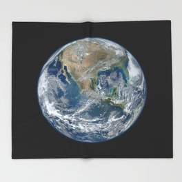 Planet Earth from Above Throw Blanket