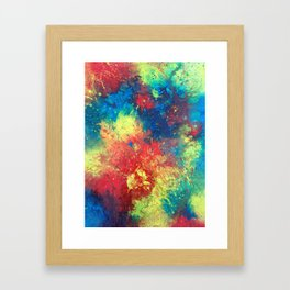 Print of painted abstract art Framed Art Print