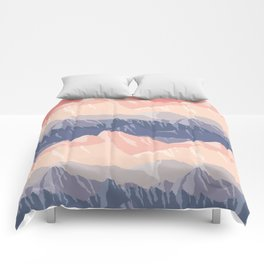 Mountain Sunset Comforters