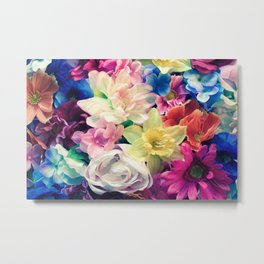 Wednesday Flowers Metal Print