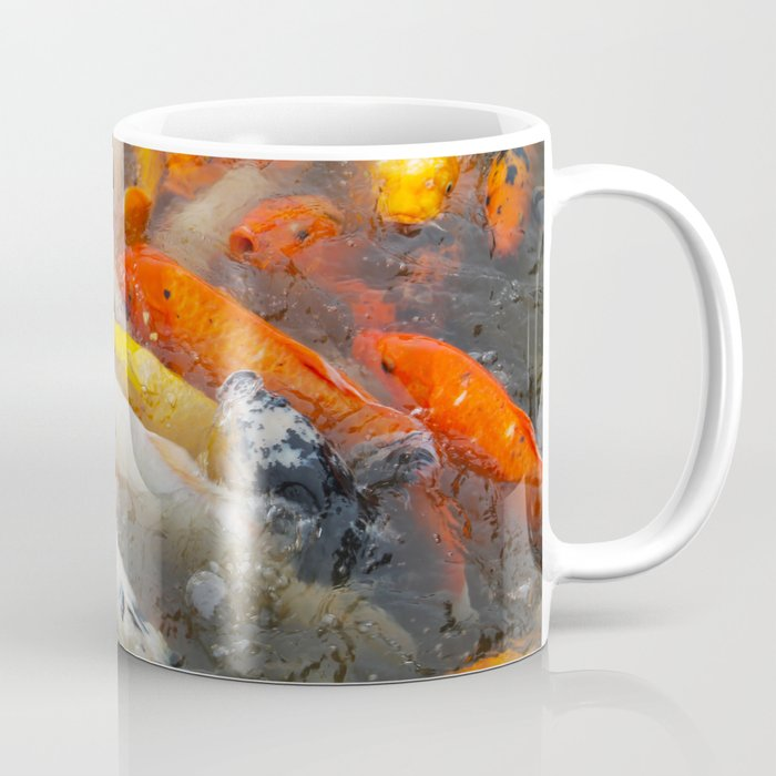 Koi Carp Food Frenzy 3 Coffee Mug By Thebigmush Society6