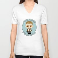 big lebowski V-neck T-shirts featuring Big Lebowski - Walter Superdeformed by Cloudsfactory