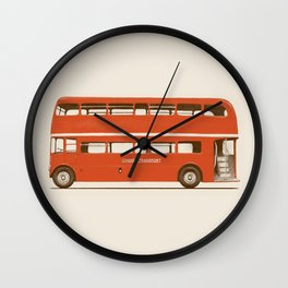 Red London Bus Wall Clock