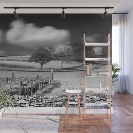 A Winter Field Wall Mural