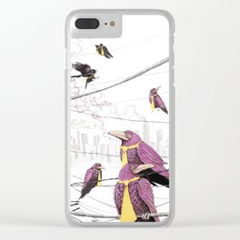 Feed the Birds Clear iPhone Case