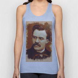 Friedrich Nietzsche, Philosopher Unisex Tank Top