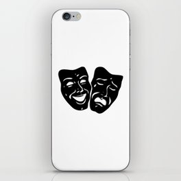 Theater Masks of Comedy and Tragedy iPhone Skin