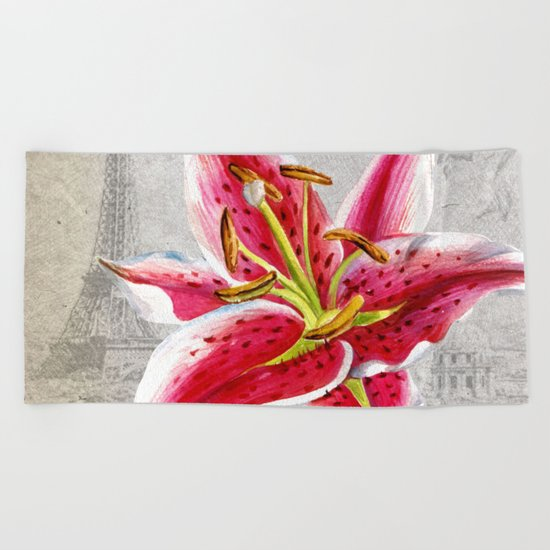 Macro Flower #2 Beach Towel