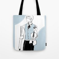 violin Tote Bags featuring Violin by Cassandra Jean