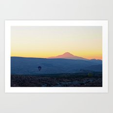 Cappadocia Sunrise Landscape Art Print