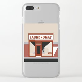 Highway Laundromat Clear iPhone Case