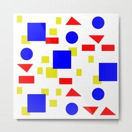 Bauhaus Geometric Shapes Modern Metal Print