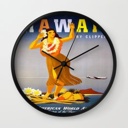 Vintage poster - Hawaii Wall Clock
