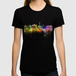 Lille skyline in watercolor background T-shirt
