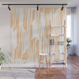 Modern Coral Stripes IV Wall Mural
