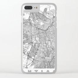 Santiago Map Line Clear iPhone Case