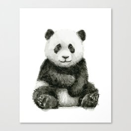 Panda Baby Watercolor Canvas Print
