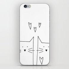 cat and cat iPhone & iPod Skin