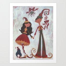 Mistletoe! Art Print