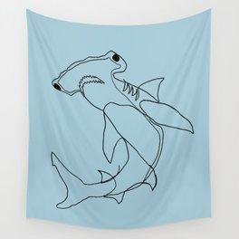 Hammerhead Shark (blue) Wall Tapestry