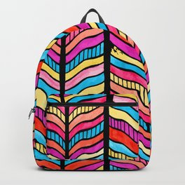 Vintage Cool and Colorful Bohemian Boho Hippie Hanging Pattern Backpack