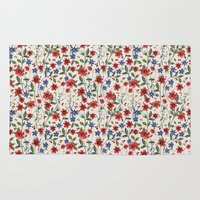 poppies Area & Throw Rugs featuring Poppies by moniquilla