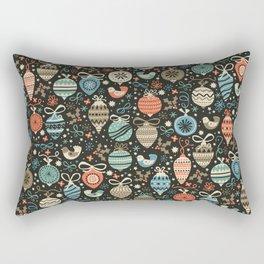 Festive Folk Charms Rectangular Pillow