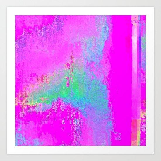 08-03-13 (Cave Glitch) Art Print