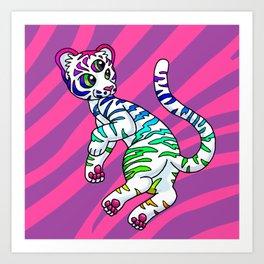 Clairvoyant Tiger Cub Art Print