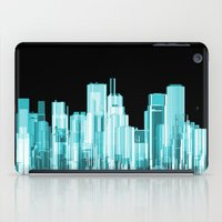 hologram iPad Cases featuring Hologram city panorama by GrandeDuc