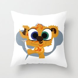 Bozo The Teddy Throw Pillow