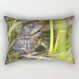 Toad in the pond Rectangular Pillow