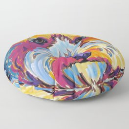 Goldendoodle or Labradoodle Pop Art Dog Portrait Floor Pillow
