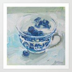 Blue Day, Blue Willow Art Print