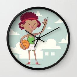 Basket Free Style Wall Clock