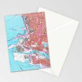 Vintage Map of Oakland California (1959) Stationery Cards