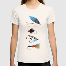Fly fishing Natural Womens Fitted Tee SMALL