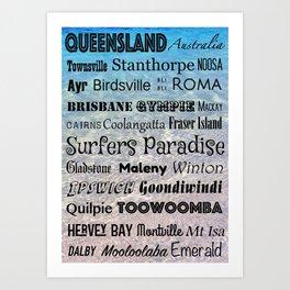 Queensland Poster Art Print
