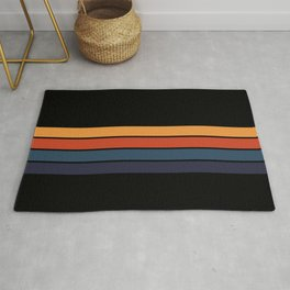 Classic Retro Stripes Design Rug
