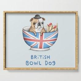 British Bowl Dog Serving Tray