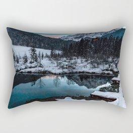 Zelenci springs at dusk Rectangular Pillow