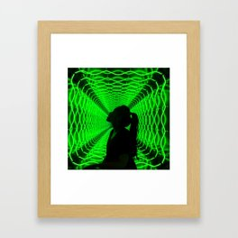 Green Jacklyn Framed Art Print