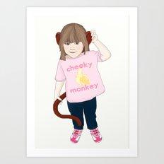 Cheeky Monkey Art Print