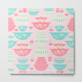 Pink and Turquoise Everything Metal Print