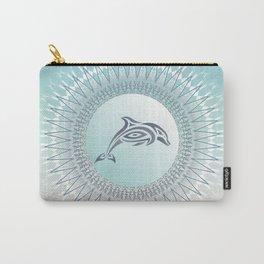 Dolphin Mandala Beach Style Carry-All Pouch