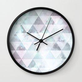 Triangle sky - Opale Wall Clock