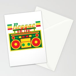 Fan of Reggae Music? Wear it anytime you want with this awesome colorful and creative tee design! Stationery Cards