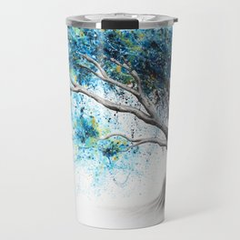 Blue Crystal Dream Tree Travel Mug